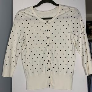 White House Black Market Beaded Button Up Cardigan